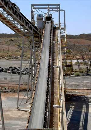 Применение транспортерных лент ПВХ в горнорудной отрасли