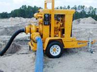 Мотопомпа для организации мобильного трубопровода на основе плоскосворачиваемых рукавов