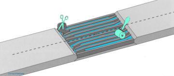 Укладка слоев резинотроссовой ленты