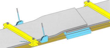 Подготовка к стыковке резинотроссовых лент
